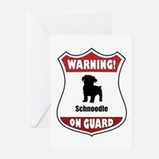 Schnoodle On Guard Greeting Card