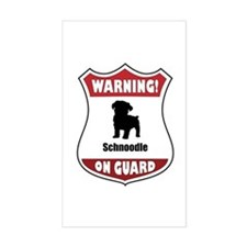 Schnoodle On Guard Rectangle Decal