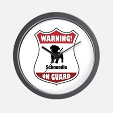 Schnoodle On Guard Wall Clock