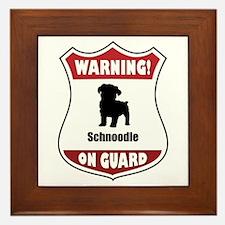 Schnoodle On Guard Framed Tile