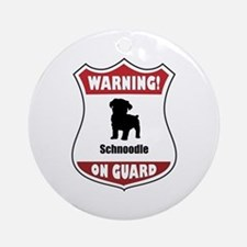 Schnoodle On Guard Ornament (Round)