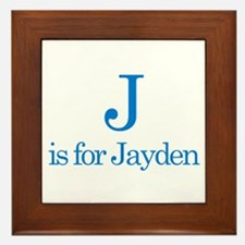 J is for Jayden Framed Tile