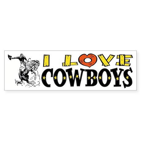 I Love Cowboys Bumper Sticker