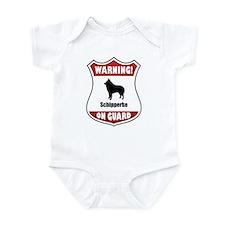 Schipperke On Guard Infant Bodysuit