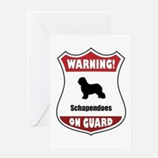 Schapendoes On Guard Greeting Card