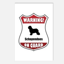 Schapendoes On Guard Postcards (Package of 8)