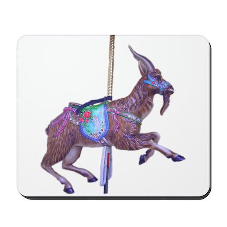 carousel goat Mousepad