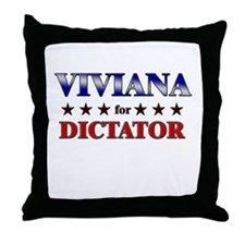 VIVIANA for dictator Throw Pillow