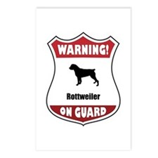 Rottweiler On Guard Postcards (Package of 8)