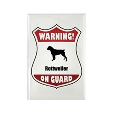 Rottweiler On Guard Rectangle Magnet (10 pack)