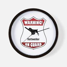 Rottweiler On Guard Wall Clock