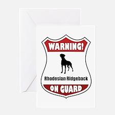 Ridgeback On Guard Greeting Card