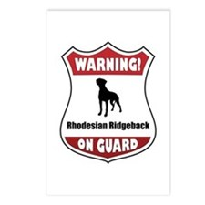 Ridgeback On Guard Postcards (Package of 8)