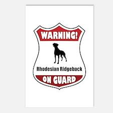 Ridgeback On Guard Postcards (Package of 8)