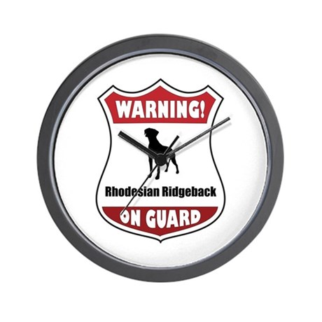 Ridgeback On Guard Wall Clock