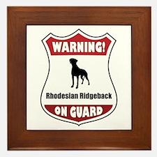 Ridgeback On Guard Framed Tile