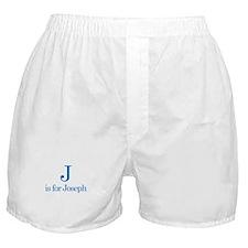 J is for Joseph Boxer Shorts