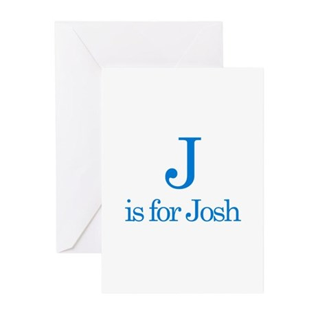 J is for Josh Greeting Cards (Pk of 10)