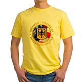 German Mens Classic Yellow T-Shirts