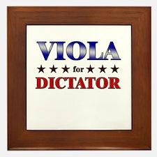 VIOLA for dictator Framed Tile