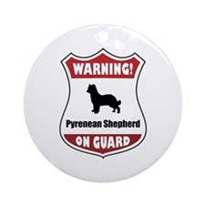 Pyrenean On Guard Ornament (Round)