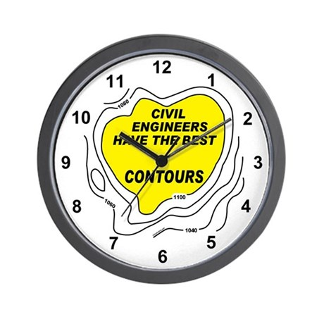 Civil Engineer Contours Wall Clock