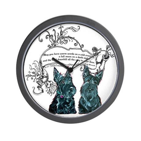 Scottish Terrier Proverb Wall Clock