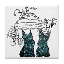 Scottish Terrier Proverb Tile Coaster