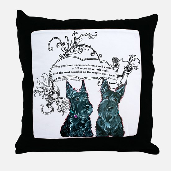 Scottish Terrier Proverb Throw Pillow