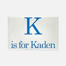 K is for Kaden Rectangle Magnet (10 pack)