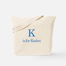 K is for Kaden Tote Bag