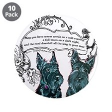 """Scottish Terrier Proverb 3.5"""" Button (10 pack)"""