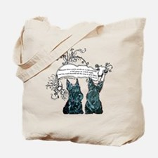 Scottish Terrier Proverb Tote Bag
