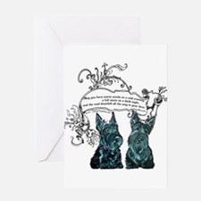 Scottish Terrier Proverb Greeting Card