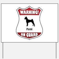 Pumi On Guard Yard Sign