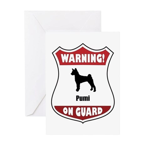 Pumi On Guard Greeting Card