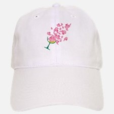 Glass of Pink Elephants Baseball Baseball Cap
