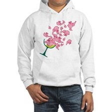 Glass of Pink Elephants Hoodie