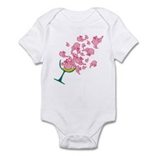 Glass of Pink Elephants Infant Bodysuit