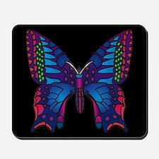 Black Flutterbye Mousepad