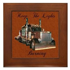 Keep The Lights Burning Framed Tile