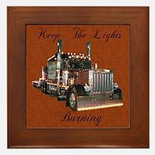 Keep The Lights Burning Framed Tile
