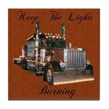 Keep The Lights Burning Tile Coaster