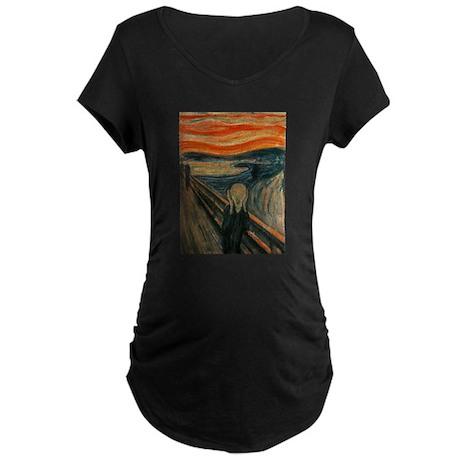 Munch's Scream Maternity Dark T-Shirt
