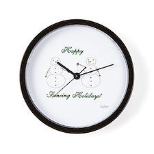 Fencing Holiday Wall Clock