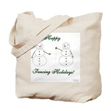 Fencing Holiday Tote Bag