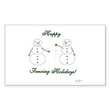 Fencing Holiday Rectangle Decal