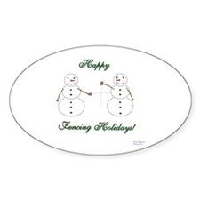 Fencing Holiday Oval Decal