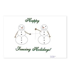 Fencing Holiday Postcards (Package of 8)