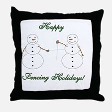 Fencing Holiday Throw Pillow
